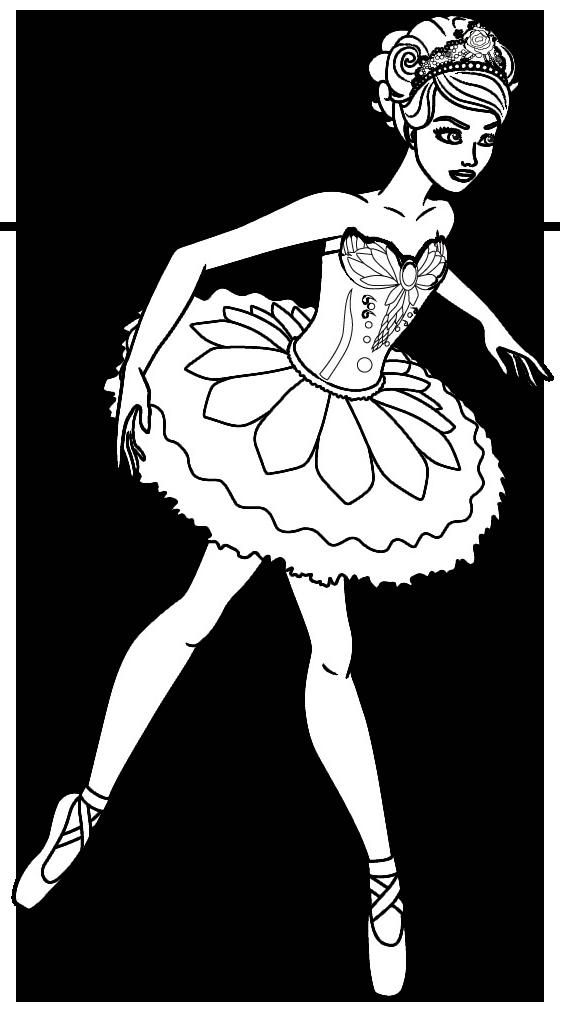 Juegos de Colorea a Barbie en Ballet