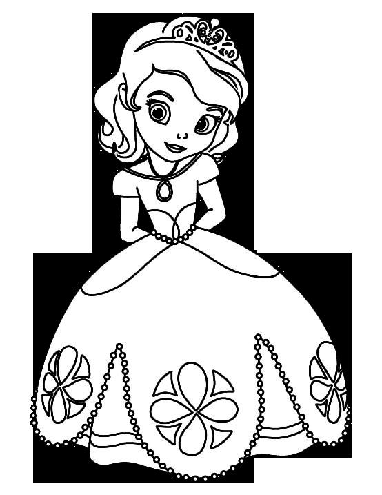 Juegos de Colorea a la Princesa Sofia