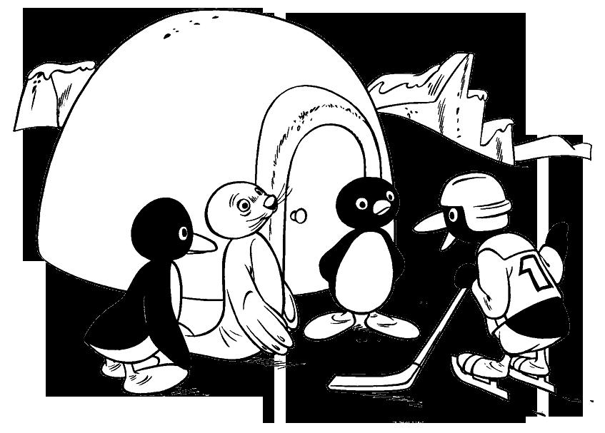 Worksheet. Juegos de Colorea a Pingu y Amigos