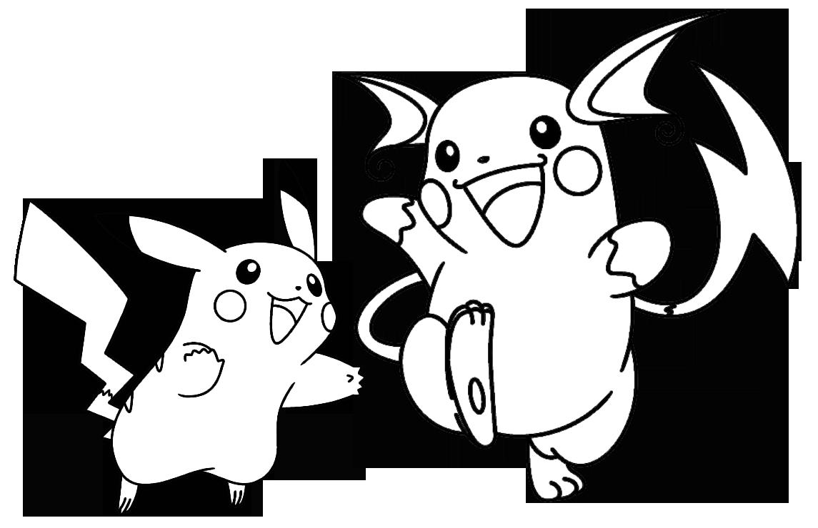 Juegos de Colorear Pikachu y Raichu
